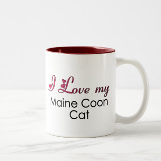I Love my Maine Coon Cat Two-Tone Coffee Mug