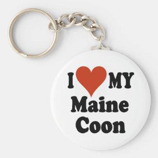 I Love My Maine Coon Keychain