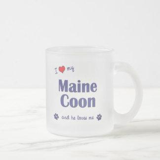 I Love My Maine Coon (Male Cat) Coffee Mugs