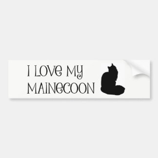 I love my mainecoon bumper sticker