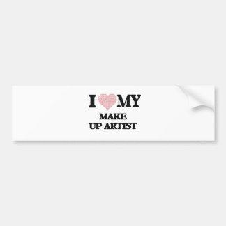 I love my Make Up Artist (Heart Made from Words) Bumper Sticker