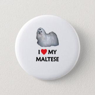 I Love My Maltese 6 Cm Round Badge