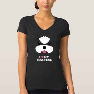 I love my maltese - puppy cut no topknot T-Shirt