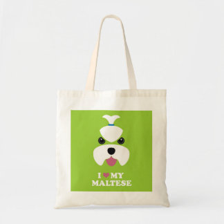 I love my maltese tote bag