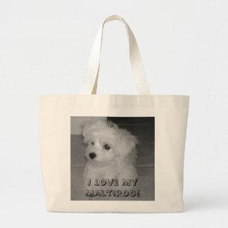 I Love My Maltipoo! Tote Bag