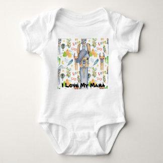 I Love My Mama Baby Baby Bodysuit