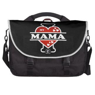 I Love My Mama Heartbeats Laptop Messenger Bag