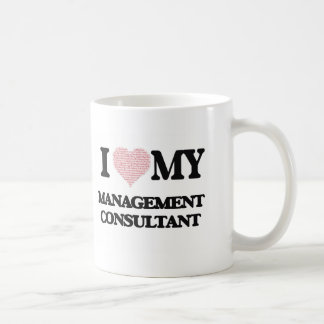 I love my Management Consultant (Heart Made from W Basic White Mug
