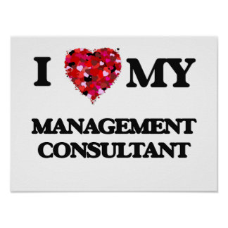 I love my Management Consultant Poster