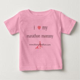 i love my marathon mommy girls t-shirt