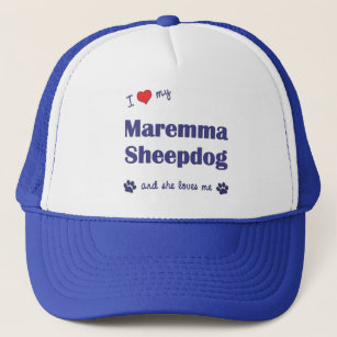 5aeefece0 I Love My Maremma Sheepdog (Female Dog) Trucker Hat