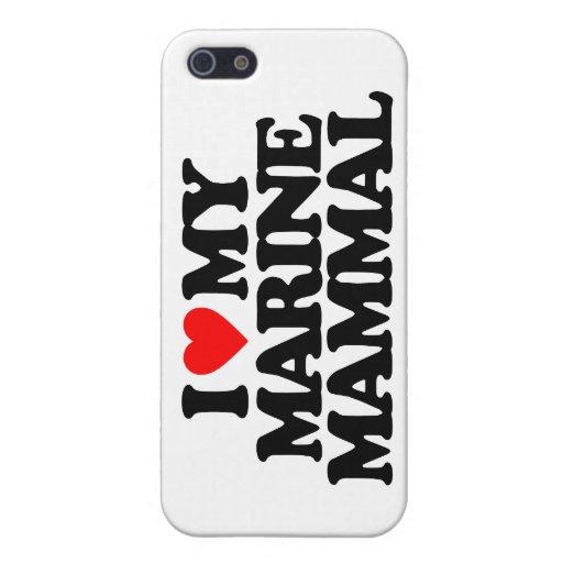 I LOVE MY MARINE MAMMAL iPhone 5/5S CASES