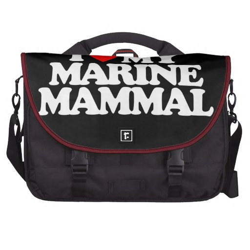 I LOVE MY MARINE MAMMAL BAGS FOR LAPTOP