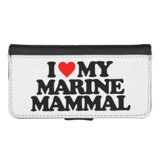 I LOVE MY MARINE MAMMAL iPhone 5 WALLET CASES