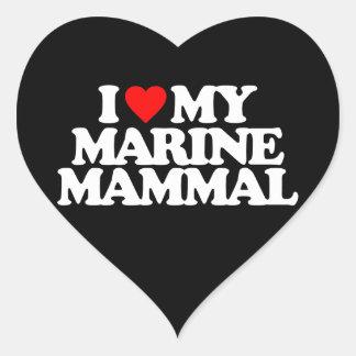 I LOVE MY MARINE MAMMAL STICKER