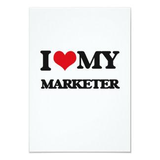 I love my Marketer 9 Cm X 13 Cm Invitation Card
