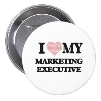 I love my Marketing Executive (Heart Made from Wor 7.5 Cm Round Badge