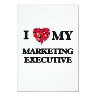 I love my Marketing Executive 9 Cm X 13 Cm Invitation Card