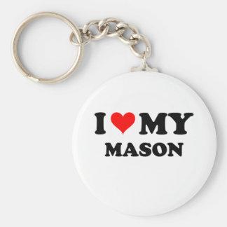 I Love My Mason Key Ring