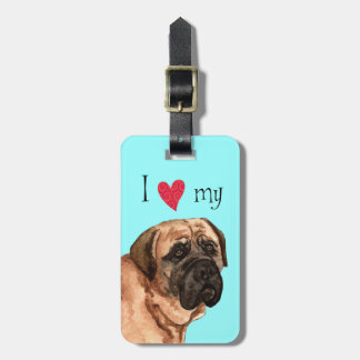 I Love my Mastiff Luggage Tag