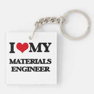 I love my Materials Engineer Square Acrylic Keychain