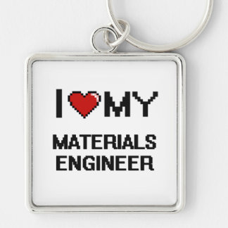 I love my Materials Engineer Silver-Colored Square Key Ring