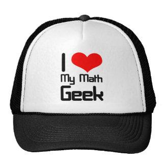 I love my math geek mesh hats