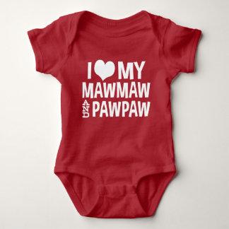 I Love My MawMaw and PawPaw Baby Bodysuit