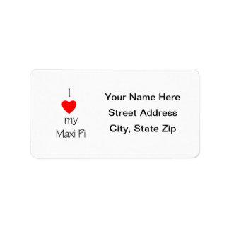 I Love My Maxi Pi Address Label