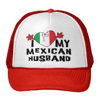 I Love My Mexican Husband Mesh Hat