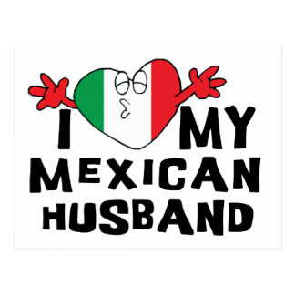 I Love My Mexican Husband Postcards