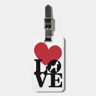 I LOVE MY Min Pin DOG Luggage Tag
