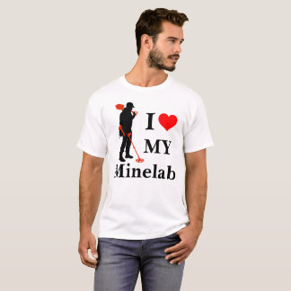 I Love My Minelab metal detecting shirt