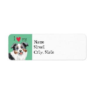 I Love my Mini American Shepherd Return Address Label