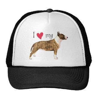 I Love my Mini Bull Terrier Cap