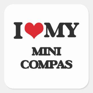 I Love My MINI COMPAS Square Sticker