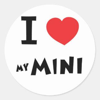 I love my mini round sticker