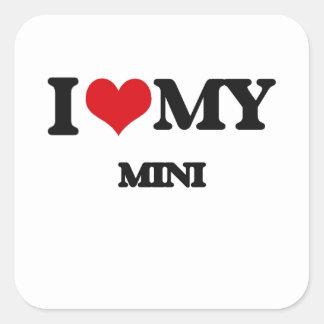 I Love My MINI Square Stickers