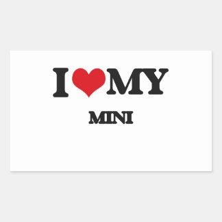 I Love My MINI Rectangular Sticker