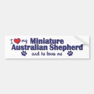 I Love My Miniature Australian Shepherd (Male Dog) Bumper Sticker