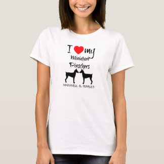 I Love My Miniature Pinscher Dogs T-Shirt