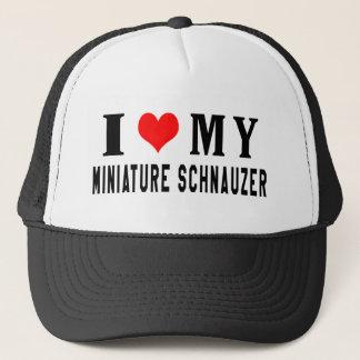 I Love My Miniature Schnauzer Trucker Hat