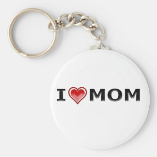 I Love My Mom Key Ring