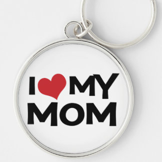 I Love My Mom Mother's Day Keychain