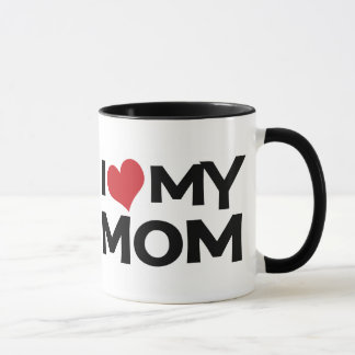 I Love My Mom Mother's Day Ringer Mug
