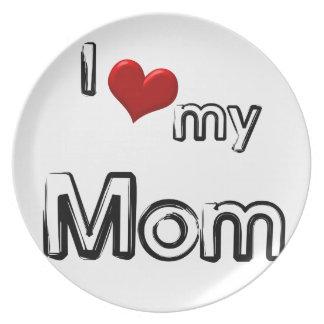 i love my mom plate