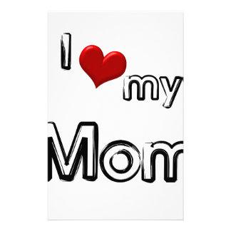 i love my mom stationery