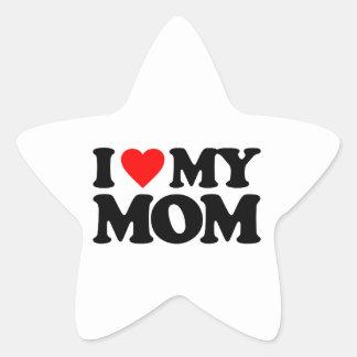 I LOVE MY MOM STAR STICKER