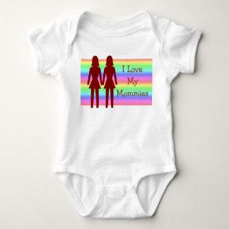 I Love My Mommies  Baby Tshirt