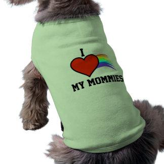 I LOVE MY MOMMIES DOG SHIRT